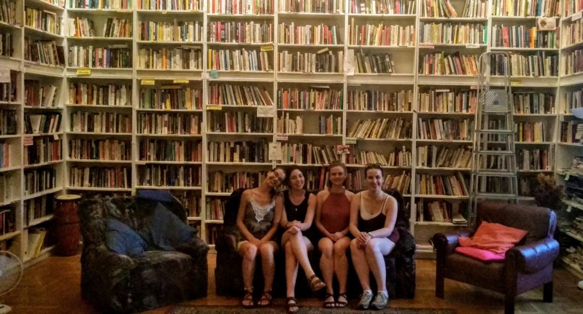 Feminist community library in Budapest