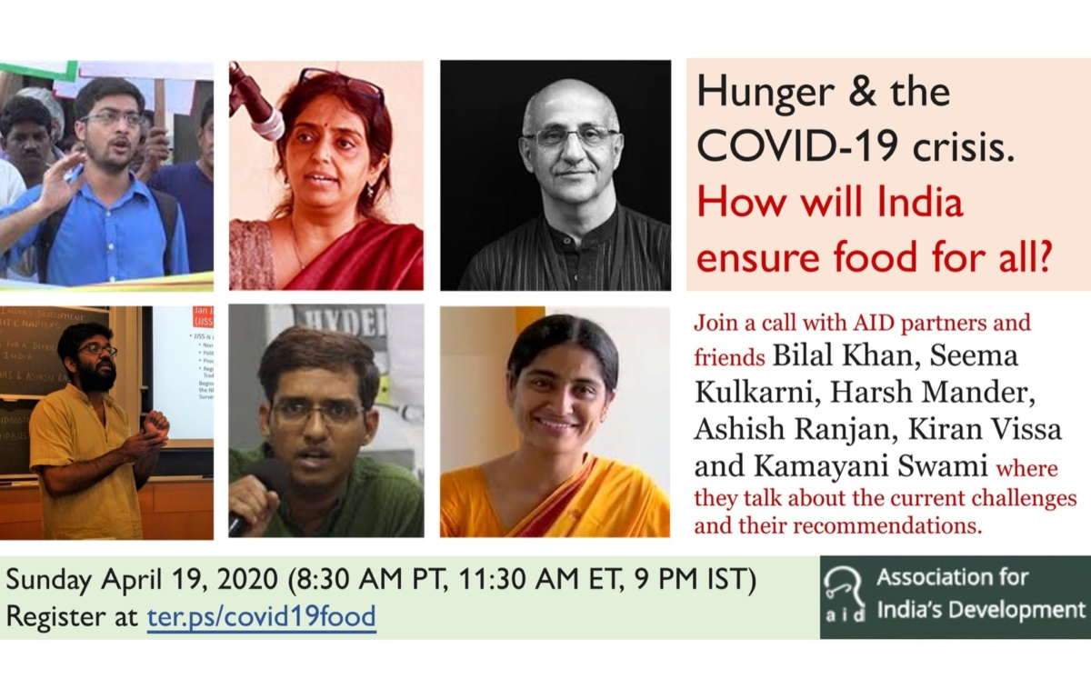 Hunger & the COVID-19 crisis: join a call