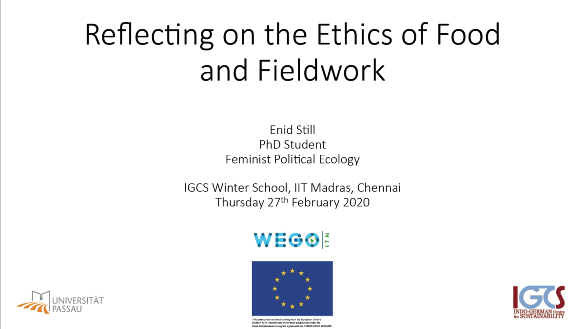 Ethics of food and fieldwork – the politics of asking questions