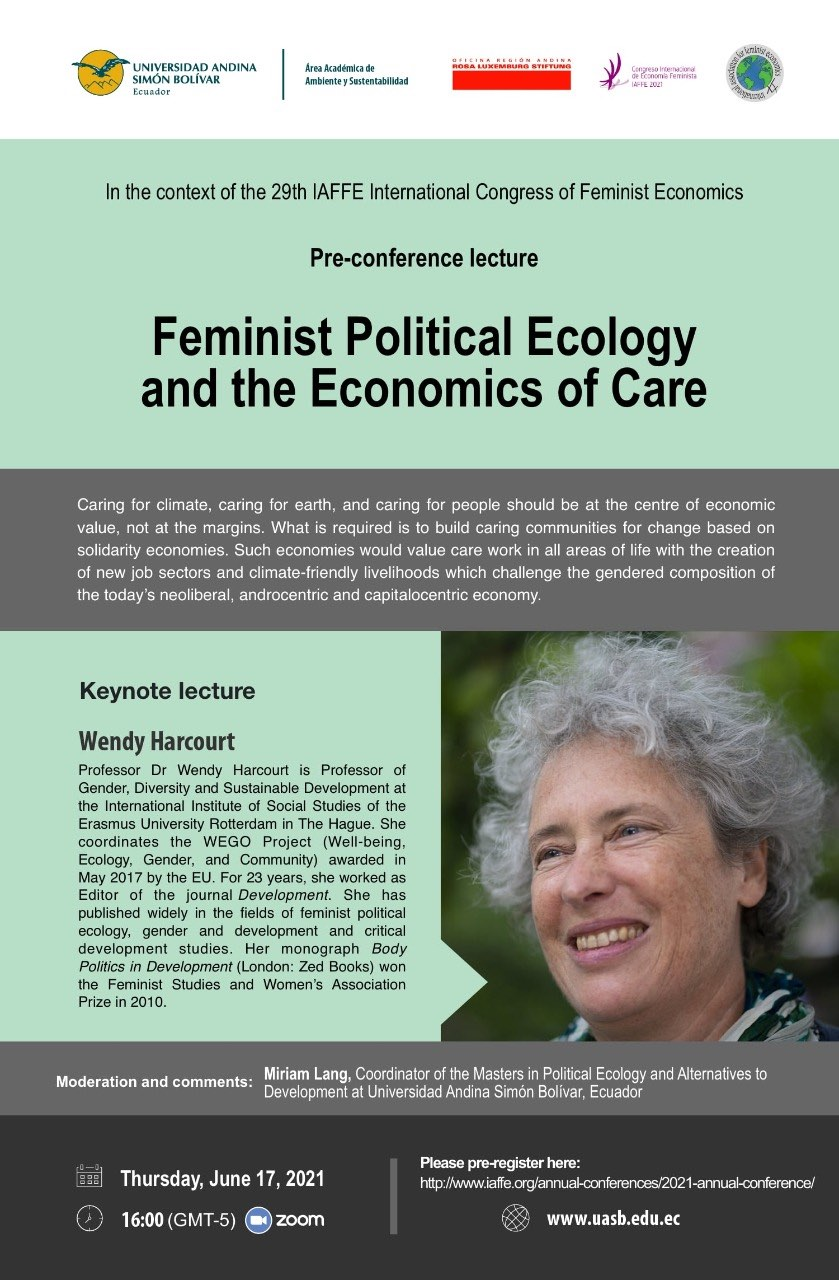 Register now for 'Feminist political ecology and the economics of care' at IAFFE